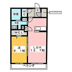 仮称 熱田区神戸町ベレオ[2階]の間取り
