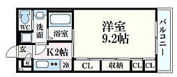 JR芸備線 矢賀駅 徒歩12分の賃貸アパート 3階1Kの間取り