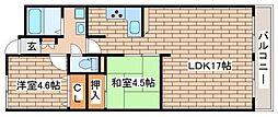 兵庫県神戸市長田区長田天神町1丁目の賃貸マンションの間取り