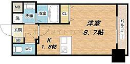 プレサンス心斎橋モデルノ[6階]の間取り
