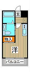 びゅうコート中浦和[4階]の間取り