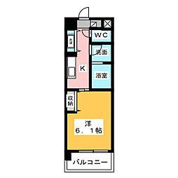 East Court Sakurabashi 1階1Kの間取り