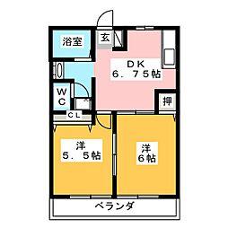 アフィニティーA[1階]の間取り