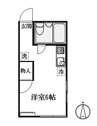 東京都世田谷区砧3丁目の賃貸アパートの間取り