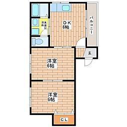 メゾンノアール[1階]の間取り