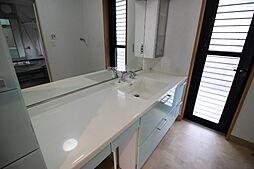 ゆったりとした洗面室は忙しい朝の支度に活躍しそうですね。