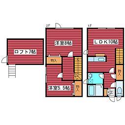 [タウンハウス] 北海道札幌市豊平区西岡五条11丁目 の賃貸【/】の間取り