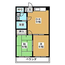 グレーストミ 21[3階]の間取り