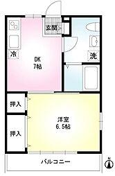 ソワサント菅野[2階]の間取り