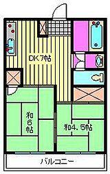 五福ビル[4階]の間取り