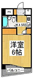リエス清瀬[4階]の間取り