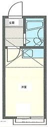 ガーデンハイツ金沢B[1階]の間取り