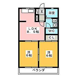 クオレ108[2階]の間取り
