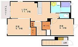 メゾンドリーブ[2階]の間取り