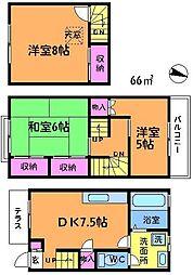 [テラスハウス] 東京都調布市深大寺東町3丁目 の賃貸【/】の間取り