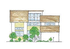 建物参考プラン/東南側立面図/ワンズライフホーム設計