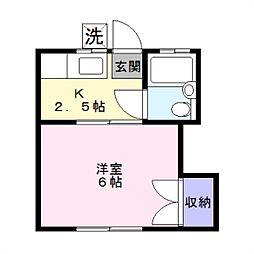 第2湘南ハイツ[2階]の間取り