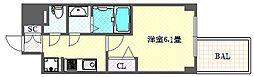 ファステート大阪ドームライズ 6階1Kの間取り