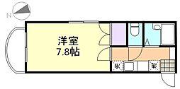 エトワール21船穂マンションA[201号室]の間取り