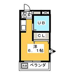 ジョイフル塩釜口II[4階]の間取り