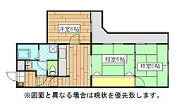 黒原スカイマンション[1階]の間取り