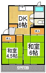 カーサムサシノ[2階]の間取り