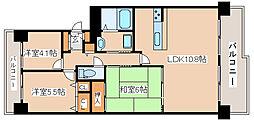 神戸新交通六甲アイランド線 マリンパーク駅 徒歩8分の賃貸マンション 12階3LDKの間取り