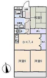 Wing1号館[1階]の間取り