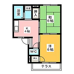 PRIV24[1階]の間取り