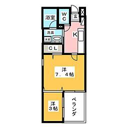 マンダリンコートささしまライブ[2階]の間取り