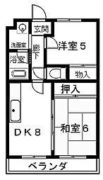 滋賀県大津市和邇中浜の賃貸マンションの間取り