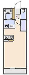 セントラルステージ 3階ワンルームの間取り
