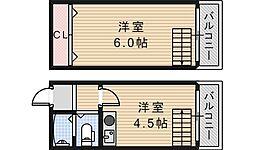 メトロ西田辺[3階]の間取り