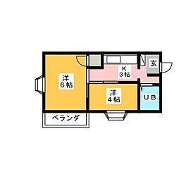 アーバンライフ掛川南[2階]の間取り