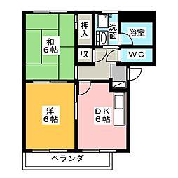 サンクレスト平久田[1階]の間取り