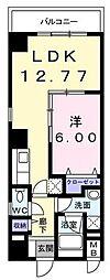 神奈川県横浜市南区前里町2丁目の賃貸マンションの間取り