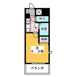 アパートメントハウスアトリウム[4階]の間取り