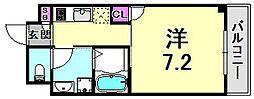 サワクモマンション 1階1Kの間取り
