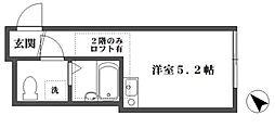 クローバー東長崎[203号室]の間取り