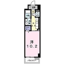 パークレーン香春口[3階]の間取り