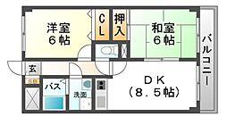 アウスブリックホーダ[3階]の間取り