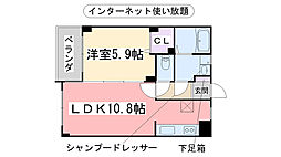 福岡県福岡市西区富士見2丁目の賃貸マンションの間取り