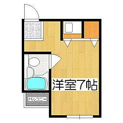 マンションチトセ[406号室]の間取り