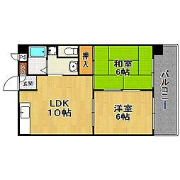 レジデンス姫島[6階]の間取り