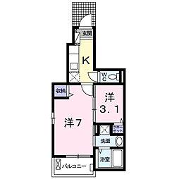 東京都練馬区田柄5丁目の賃貸アパートの間取り