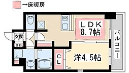 プレサンス新大阪ザシティ 10階1LDKの間取り