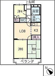 アビタシオン津B棟[2階]の間取り