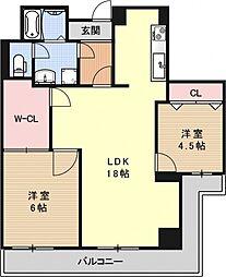MUROMACHI PLACE[502号室号室]の間取り