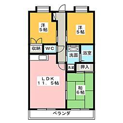 ピュア旭ヶ丘[2階]の間取り