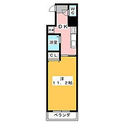 クレスト名駅西[7階]の間取り